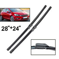 Pair of Front Windscreen Wiper Blades For Opel Astra K Holden Astra 2016 2017