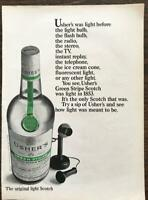 ORIGINAL 1967 Usher's Green Stripe Scotch Whisky Whiskey PRINT AD Fun List