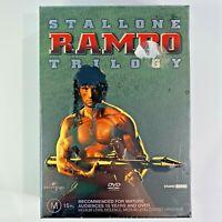Stallone Rambo Trilogy DVD 3 Disc Set Brand New Sealed