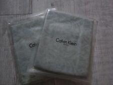 CALVIN KLEIN HOME Standard EURO Pillowcases Pair DECONSTRUCTED DAMASK Green NEW
