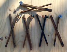 Vintage Ice Fishing Wooden Tip-Ups (Lot of 5) Hobby Winter Sport (Hand Crafted)