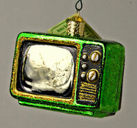 VINTAGE RETRO TUBE TV TELEVISION OLD WORLD CHRISTMAS ORNAMENT NEW