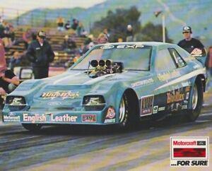 "1982 Raymond Beadle ""Blue Max"" Motorcraft Ford EXP Funny Car NHRA postcard"