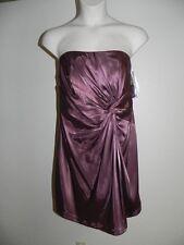 Davids Bridal Dress Size 16 Rosewood Knot Detail Strapless F15128 Bridesmaid NWT
