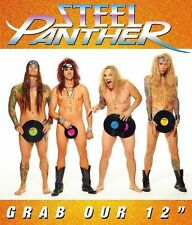 "Steel Panther - Grab Our 12"" Vinyl LP Hair Metal Sticker, Magnet"