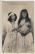 N AFRICA beautés Arab woman & Friend Maure Femmes * vintage 10s ETHNIC NUDE pc