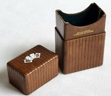More details for antique alphonse giroux paris playing card case leather & coloured enamels