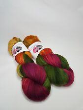 Hand dyed Wool Nylon yarn, 4-ply, Fingering weight, 100g, AUTUMN GLORY