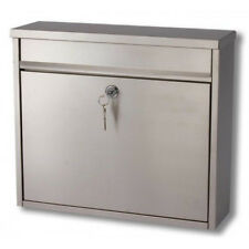 Large Stainless Steel Post Mail Letter Box Postbox Mailbox A4 Simple Stylish