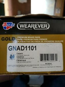 Wearever Gold Ceramic Disc Brake Pads from Car Quest GNAD1101 with Hardware