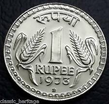 Republic India One Rupee Coin 1973 ★ Proof Coin ★ Bombay Mint ★
