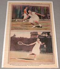 La Presse September 20th. 1930 Mlle Burritt & Edith Cross Tennis Photo