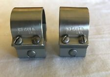 "1 Set Weaver Brushed Stainless Steel 1"" Scope Rings"