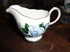 Ridgway Potteries Queen Anne Milk Jug SAPPHIRE Blue Roses 8282