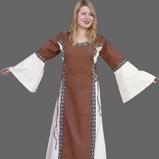 Mittelalterkleid braun natur Burgfräulein Mittelalter Damen Burg Kleid Gewand