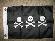 """12x18 12""""x18"""" Jolly Roger Pirate Christopher Condent Boat Car Motorcycle Flag"""