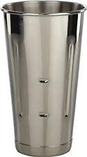 (6 each) 30 oz. malt cup stainless steel ice cream  Milkshake cups