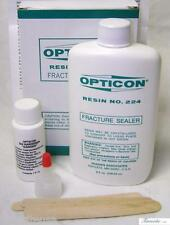 OPTICON® FRACTURE SEALER & HARDENER LAPIDARY 8 FL. OZ. RESIN No. 224 - NEW!