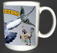 RACING PIGEONS COFFEE MUG, LIMITED EDITION, I LOVE PIGEONS NEW GREAT GIFT
