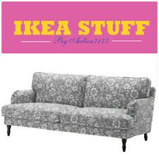 "IKEA STOCKSUND 3 Seat Sofa Slipcover Cover Hovsten Gray White 78 3/8"" WIDE"