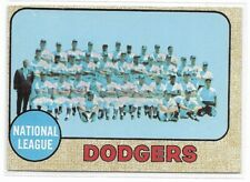 1968 Topps Los Angeles Dodgers Team Card No. 168