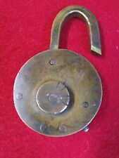 "RARE UNUSUAL""TRICK"" COMBINATION BRASS PADLOCK, OLD VINTAGE ANTIQUE LOCK"