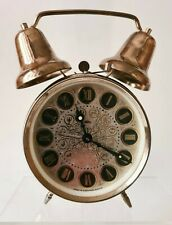 Antique Clock In Bell Made In Czechoslovakia Prim Decor Signs Astrology