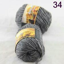 Sale Lot of 2 Skeins New Knitting Yarn Chunky Colorful Hand Wool Wrap Scarves 34