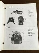 New Listing1979 Vintage Yamaha Srx 440 C Snowmobile Owner'S Service Manual