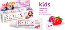 R.O.C.S Kids Age 4-7 Raspberry & Strawberry Gel Toothpaste 45ml 1.6 fl oz