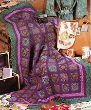 EXOTIC Trip Around The World Afghan/Crochet Pattern INSTRUCTIONS ONLY