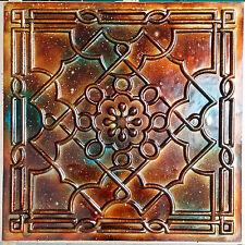 PL09 Faux tin 3D copper patina ceiling tiles cafe store decor panels10tiles/lot