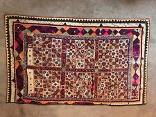 Vintage Kutch Wall Hanging Décor from India Embroidery Work with mirrors 57X36