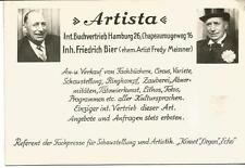 """Ak """"artista"""" libro internacionales distribución hamburgo, Friedrich cerveza/fredy meissner"""