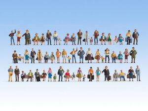 N Scale people - 37070 - Mega Economy Figures Set - 60 Figures