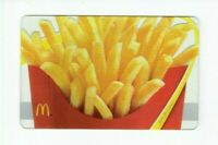 McDonalds Gift Card - French Fries with Clear Background - 2009 - No Value