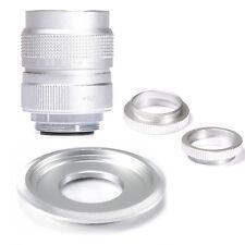 Fujian 25mm F1.4 CCTV TV lens Silver+ Mount & Macro Ring to M4/3 EP1 EP2 EP3 GF1