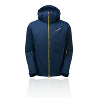 Montane Mens Sports Outdoors Windproof Prism Hooded Jacket Anorak Top Green