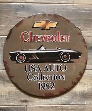 Chevrolet Retro 1960s Style Cool Vintage Round Tin Sign 30cm Metal