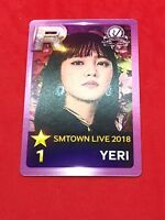 Red Velvet YERI Limited SMTOWN LIVE 2018 IN OSAKA Official Photocard Venue
