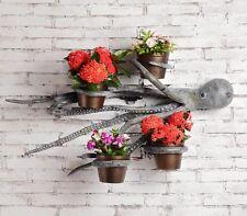 """Octopus Wall Planter Hanging Art Decor Garden Flower Pot Plant Nautical 31""""W"""