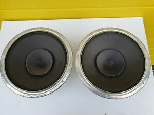 "2 Philips vintage 8"" 9710AM Speakers 1955 FULL Range RARE"