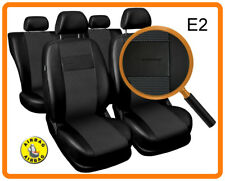 Car seat covers fit Nissan Micra - full set black leatherette/polyester