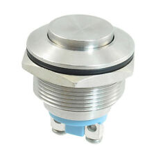 Momentary Push Button Switch 22mm Flush Mount SPST ON/OFF BT