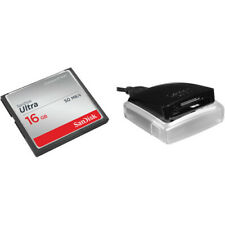 SanDisk 16GB Ultra CompactFlash Memory Card with USB 3.0 Dual-Slot Reader - NEW
