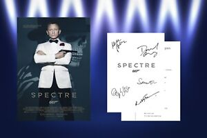 James Bond Script/Screenplay With Movie Poster And Autographs Signed Print