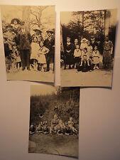 Danzig um 1920 - Gruppen Männer Frauen Kinder Mädchen / 3x Foto-Reproduktionen
