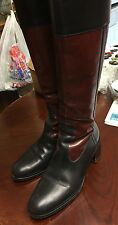 Hobbs Italian Leather Field Sports Tall Side Zip Boots size 40 Equestrian,riding
