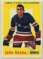 1959-60 Topps Hockey #31 John Hanna VG-EX Condition (2020-13)