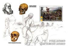KALMYKIA 2009 3 SHEETS MNG ANTROPOLOGY DARWIN PREHISTORIC MEN